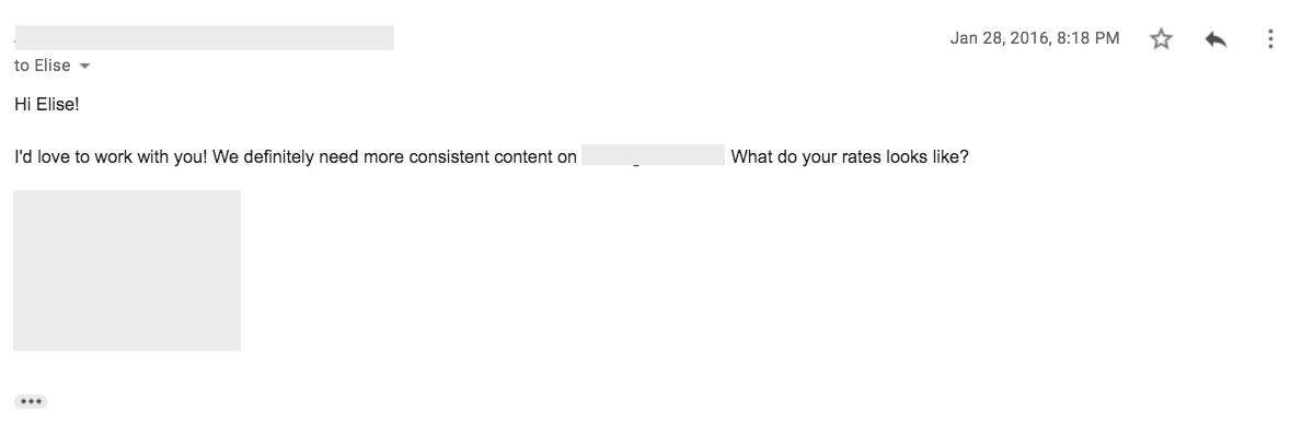 freelance writing pitch