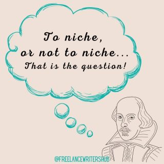"""To niche or not to niche... THAT is the question!  Freelance writers are often encouraged to choose a niche and stick with it. But is it really necessary to tie yourself down to one niche?  Believe it or not, some freelancers don't I know of some very successful writers who never stuck to one niche and have done very well for themselves.  There are both advantages and disadvantages to choosing a niche in your freelance writing career.   Here's what I could come up with...  ➡️ Pros of choosing a niche ⬅️  - You'll be regarded as an expert in a certain field. - You'll know your niche so well that research and writing will become easier and faster. - You'll know exactly how to help your ideal client - You may develop a strong understanding of your ideal client's target audience. - You'll be able to charge more for your specialized expertise as you grow. - You can optimize your writer website to your niche and rank high in search engine results for low-competition keywords. - You won't have to waste time sifting through emails or sitting through discovery calls with client prospects who aren't a good fit for you.  ➡️ Cons of choosing a niche ⬅️  - You could pigeonhole yourself before figuring out what kind of writing it is that you really want to do. - You may experience FOMO on other great gigs. - You may experience more fluctuations in demand or dry spells. - You may get bored or feel """"stuck in a rut"""" with the same writing projects and topics. - Prospects may view your website and assume that you're *too* specialized in a certain niche for their writing project, potentially discouraging them from contacting you.  In my opinion, choosing a freelance writing niche comes with more benefits than not choosing one.   Having said that, everyone's journey is different!  Do you have a niche? I'd love to know!  (Tip: Read my blog post on high-paying niches at bitly.com/fwh-niches)"""