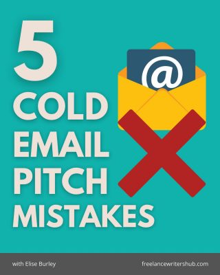 Everybody loves cold email pitching, right?! [That was sarcasm.] Okay, so cold email pitching isn't exactly every freelance writer's favourite task, but if your ideal clients aren't coming to you first, then you have to go to them. The thing about cold email pitching is that if you don't do it right, you can easily get discouraged or burnt out. No shame, I've made ALL these mistakes in the past! Live and learn, right?! Save this post for the next time you plan to do some cold email pitching. And if you've cold email pitched before, let me know what you learned from it!